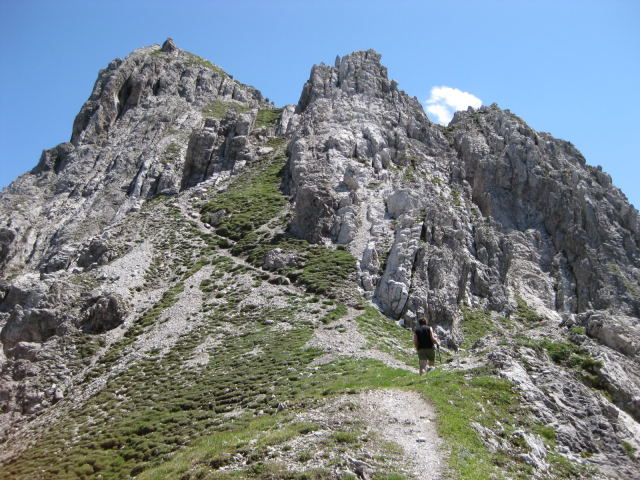 Foto: Wolfgang Lauschensky / Wandertour / Kuhljochspitze oder Kuhlochspitze 2297m / Westgrat aus der Kuhljochscharte / 17.11.2011 12:34:11