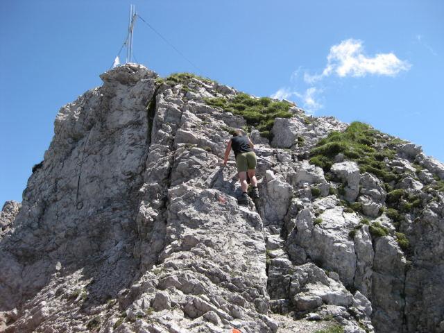 Foto: Wolfgang Lauschensky / Wandertour / Kuhljochspitze oder Kuhlochspitze 2297m / letzte Steilstufe / 17.11.2011 12:33:32
