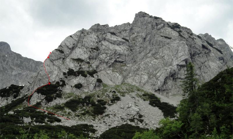 Foto: schrutkaBua / Klettertour / Mitterberg (1916 m) Nord Grat / Übersicht Zustieg & 1. Seillänge / 21.11.2011 10:27:58