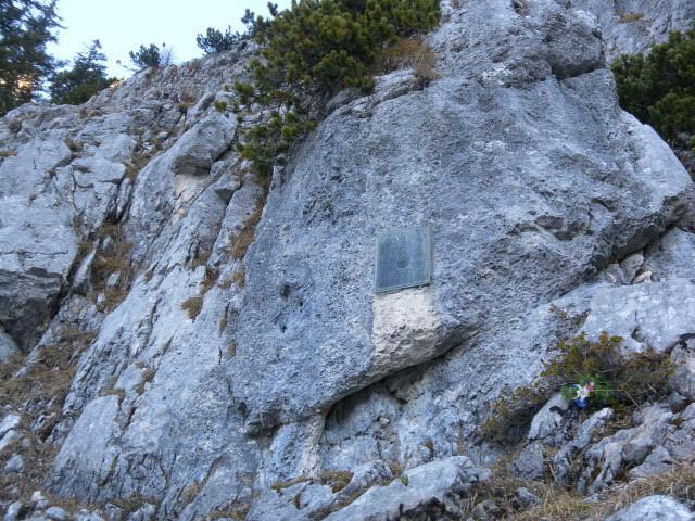 Foto: Wolfgang Lauschensky / Wandertour / Dürreckberg 1785m   / Einstieg bei der Gedenktafel / 30.11.2011 00:32:21