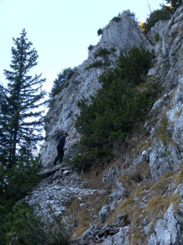 Foto: Wolfgang Lauschensky / Wandertour / Dürreckberg 1785m   / steiles Schrofengelände der Südwand / 30.11.2011 00:32:08
