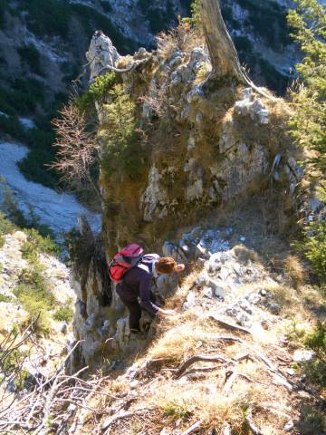 Foto: Wolfgang Lauschensky / Wandertour / Dürreckberg 1785m   / kurze Steilrinne / 30.11.2011 00:31:30