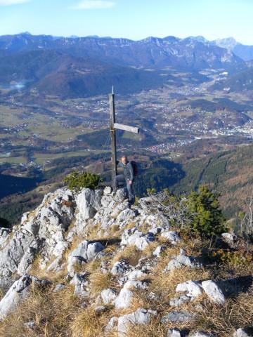 Foto: Wolfgang Lauschensky / Wandertour / Dürreckberg 1785m   / NW-Grat mit Kreuz / 30.11.2011 00:31:03