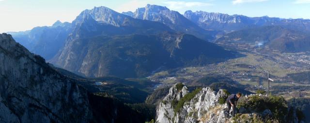Foto: Wolfgang Lauschensky / Wandertour / Dürreckberg 1785m   / Gipfelblick über Alpeltal zu Watzmann, Hochkalter, Reiteralpe / 30.11.2011 00:30:44