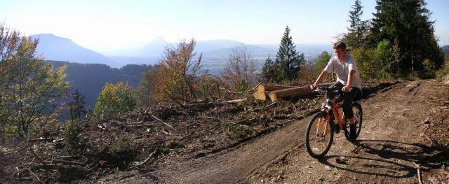 Foto: Wolfgang Lauschensky / Mountainbiketour / Schwarzenberg  1334m / forstliche Herbstarbeit / 17.12.2011 13:24:12