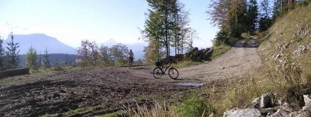 Foto: Wolfgang Lauschensky / Mountainbiketour / Schwarzenberg  1334m / die letzte Südkurve / 17.12.2011 13:23:54