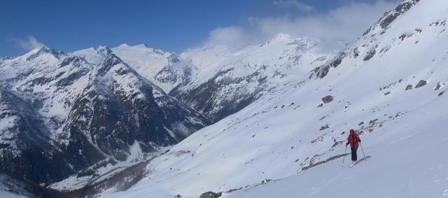 Foto: Wolfgang Lauschensky / Ski Tour / Riegelkopf – stille Alternative zum Hochgasser / in der langen Querung zum Dabersee / 06.04.2012 16:12:23