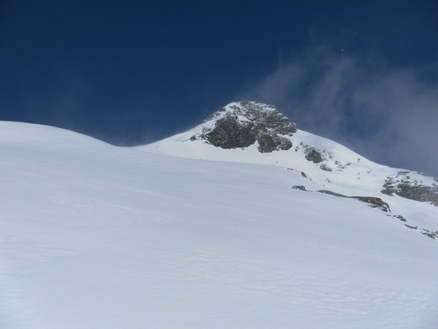 Foto: Wolfgang Lauschensky / Ski Tour / Riegelkopf – stille Alternative zum Hochgasser / erster Blick auf den Riegelkopf / 06.04.2012 16:12:07