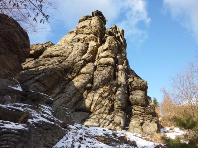 Foto: Manfred Karl / Wandertour / Rundtour Friedrichfelsen - Hoher Stein – Rote Wand / Schiefer Turm / 28.01.2012 12:03:37