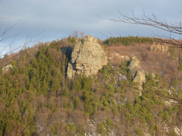 Foto: Manfred Karl / Wandertour / Rundtour Friedrichfelsen - Hoher Stein – Rote Wand / Hoher Stein von Hochreut / 28.01.2012 11:58:37