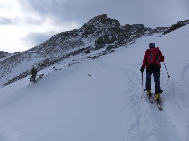 Foto: Wolfgang Lauschensky / Skitour / Lackenspitze 2459m / 'Steilstufe' zur Krauthackelhütte / 01.02.2012 17:06:47