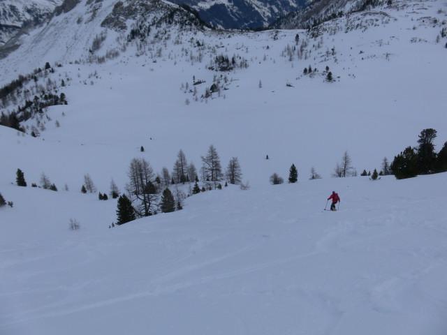 Foto: Wolfgang Lauschensky / Skitour / Lackenspitze 2459m / schöne Abfahrtshänge zur oberen Neuwirtsalm / 01.02.2012 17:04:35
