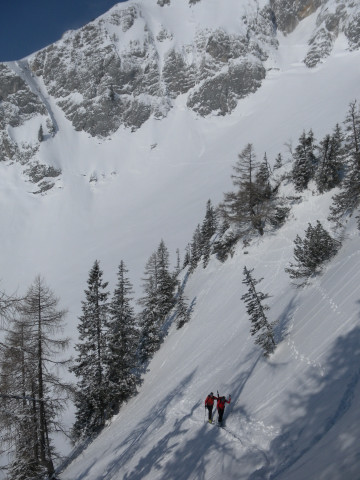 Foto: Wolfgang Lauschensky / Skitour / Scheiblingstein 2197m (hohe Variante aus dem Pyhrgasgatterl) / Steilhang / 23.02.2012 14:55:21