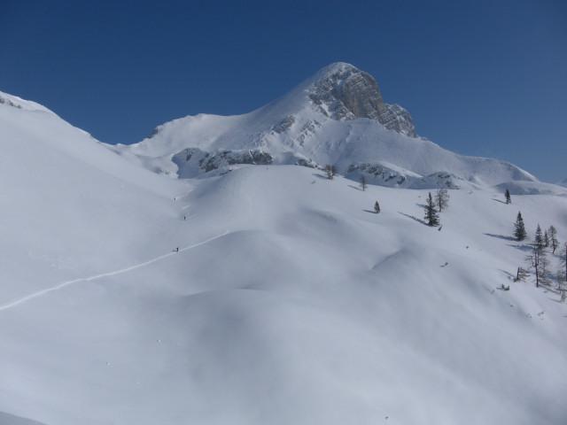 Foto: Wolfgang Lauschensky / Skitour / Scheiblingstein 2197m (hohe Variante aus dem Pyhrgasgatterl) / südseitige Hochfläche vor dem Scheiblingstein / 23.02.2012 14:55:06