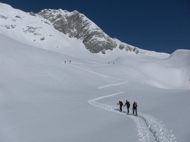 Foto: Wolfgang Lauschensky / Skitour / Scheiblingstein 2197m (hohe Variante aus dem Pyhrgasgatterl) / Anstieg zur Einfahrt in die Lange Gasse / 23.02.2012 14:54:14