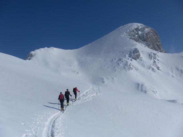 Foto: Wolfgang Lauschensky / Skitour / Scheiblingstein 2197m (hohe Variante aus dem Pyhrgasgatterl) / große Gipfelmulde des Scheiblingsteins / 23.02.2012 14:51:15