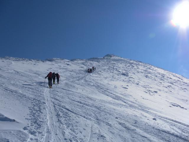 Foto: Wolfgang Lauschensky / Skitour / Scheiblingstein 2197m (hohe Variante aus dem Pyhrgasgatterl) / am Nordgrat / 23.02.2012 14:50:34