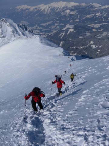 Foto: Wolfgang Lauschensky / Skitour / Scheiblingstein 2197m (hohe Variante aus dem Pyhrgasgatterl) / Nordgratanstieg / 23.02.2012 14:50:21