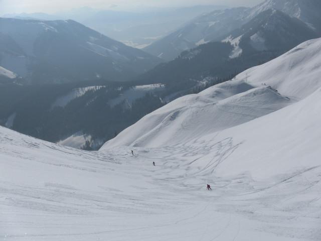 Foto: Wolfgang Lauschensky / Skitour / Scheiblingstein 2197m (hohe Variante aus dem Pyhrgasgatterl) / Einfahrt in die Lange Gasse / 23.02.2012 14:50:02