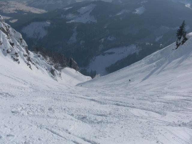 Foto: Wolfgang Lauschensky / Skitour / Scheiblingstein 2197m (hohe Variante aus dem Pyhrgasgatterl) / linke Steilrinne / 23.02.2012 14:49:45