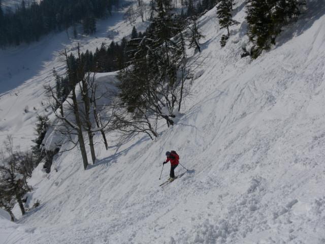 Foto: Wolfgang Lauschensky / Skitour / Scheiblingstein 2197m (hohe Variante aus dem Pyhrgasgatterl) / Steilhang zur Gstattmaieralm  / 23.02.2012 14:49:24