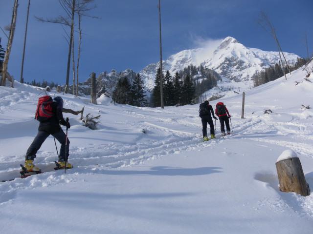 Foto: Wolfgang Lauschensky / Skitour / Scheiblingstein 2197m (hohe Variante aus dem Pyhrgasgatterl) / Gegenanstieg zum Pyhrgasgatterl / 23.02.2012 14:49:00