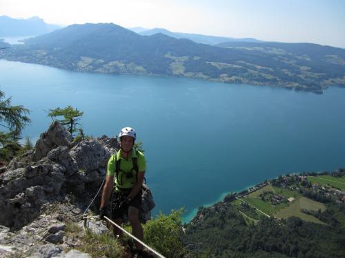 Klettersteig Attersee : Attersee klettersteig auf den mahdlgupf impressionen bergsport