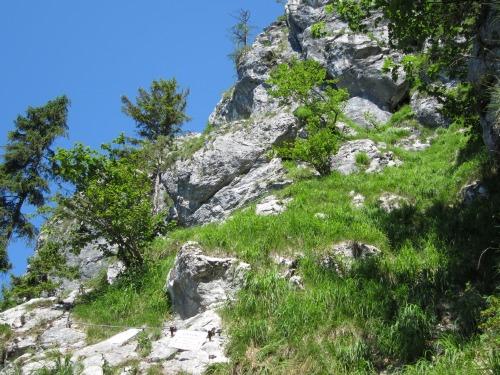 """Foto: hofchri / Klettersteigtour / Mahdlgupf (1.261 m) über """"Attersee-Klettersteig"""" / Der Einstieg auf 650 m / 26.06.2012 19:54:02"""