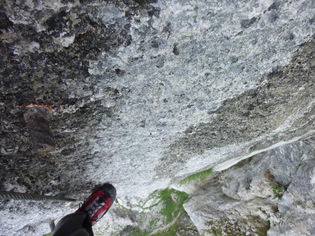 """Foto: Manfred Karl / Klettersteigtour / Mahdlgupf (1.261 m) über """"Attersee-Klettersteig"""" / Hühnerleiter / 03.06.2012 15:10:47"""