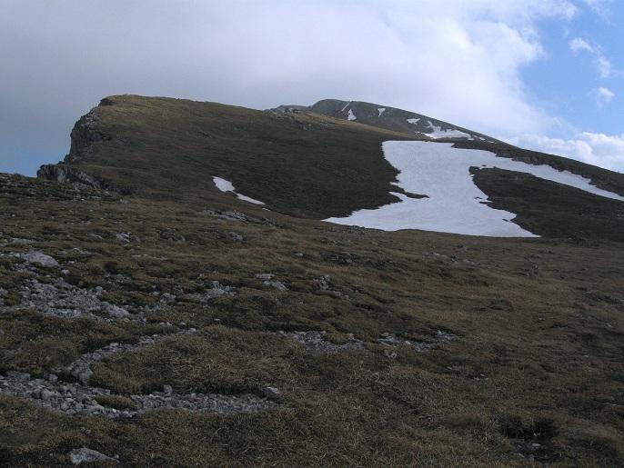 Foto: Andreas Koller / Klettertour / Nandlgrat auf das Schneebergplateau (1974m) / Blick zum Festenkogel und Kaiserstein (2064m) / 21.05.2012 23:15:37