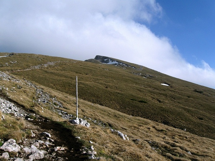 Foto: Andreas Koller / Klettertour / Nandlgrat auf das Schneebergplateau (1974m) / Rückblick zum Schneeberg / 21.05.2012 23:08:08