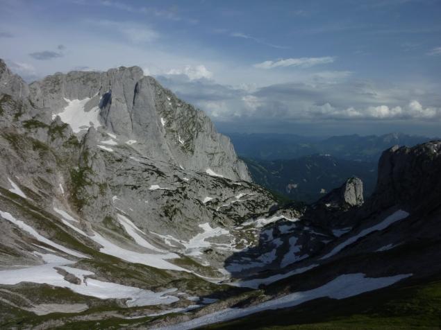 Foto: Manfred Karl / Wandertour / Mitterkogel über den Steiglpass / Gewitterstimmung über dem Gamsfeld / 15.07.2012 21:51:31