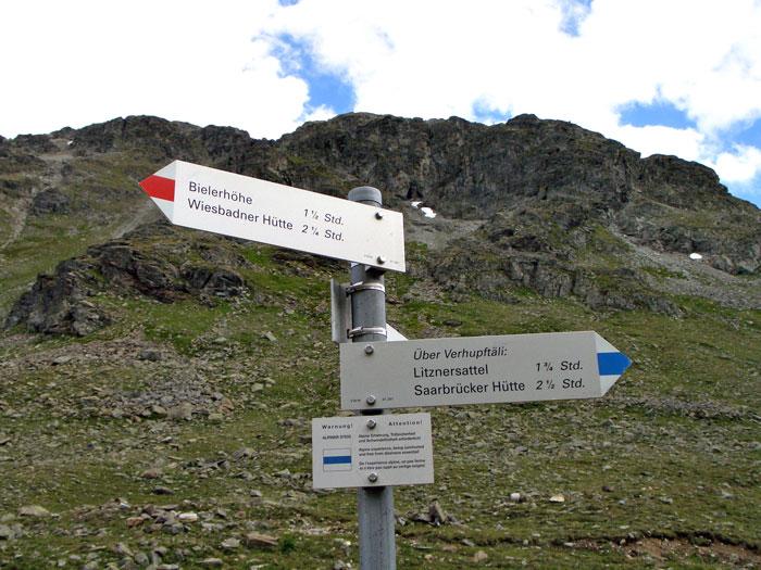 Foto: vince 51 / Wandertour / Sonntagsspitze / Hier Richtung Litznersattel abbiegen / 31.08.2012 20:35:35