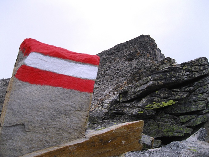 Foto: Andreas Koller / Wandertour / Goldbergspitze aus dem Großen Zirknitztal (3073m) / In der Oberen Brettscharte mit S-Grat / 22.09.2012 01:47:13