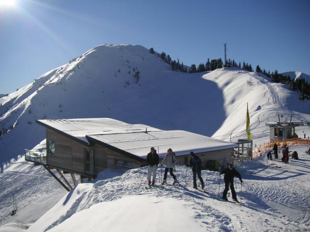 Foto: Wolfgang Lauschensky / Ski Tour / Riesnerkrispen über Mörsbachtal / Gipfelgrat zum Riesnerkrispen / 23.12.2012 16:07:05