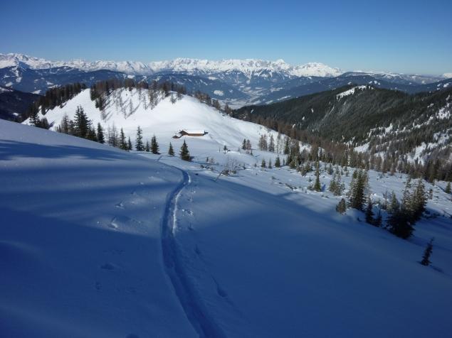 Foto: Manfred Karl / Skitour / Hinteres Labeneck, 1986 m / Eisenhofalm / 15.02.2013 21:16:38