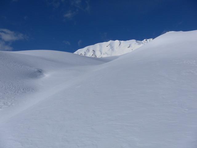 Foto: Wolfgang Lauschensky / Skitour / Mislkopf über Mislböden    / am Sattel nördlich des Hirschsteins / 19.02.2013 18:00:42