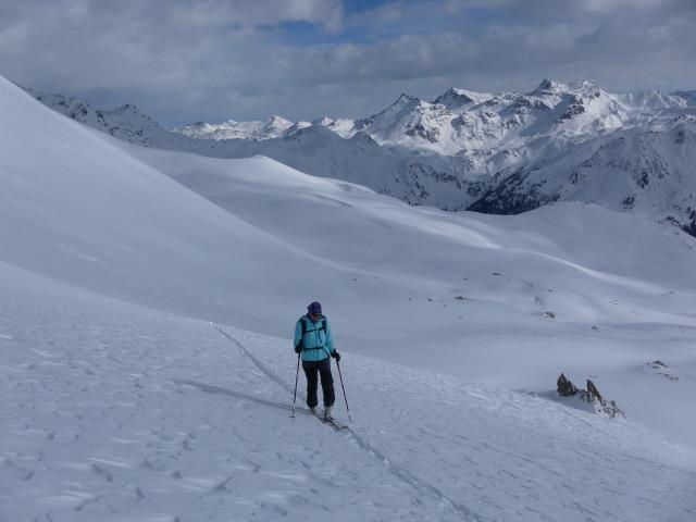 Foto: Wolfgang Lauschensky / Skitour / Mislkopf über Mislböden    / Steilhang zur Einmündung in den Normalanstieg über die Mislalm / 19.02.2013 18:00:15