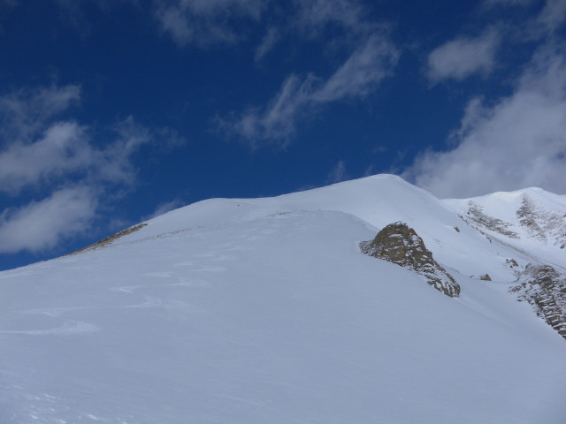 Foto: Wolfgang Lauschensky / Skitour / Mislkopf über Mislböden    / am Südwestrücken / 19.02.2013 18:00:06