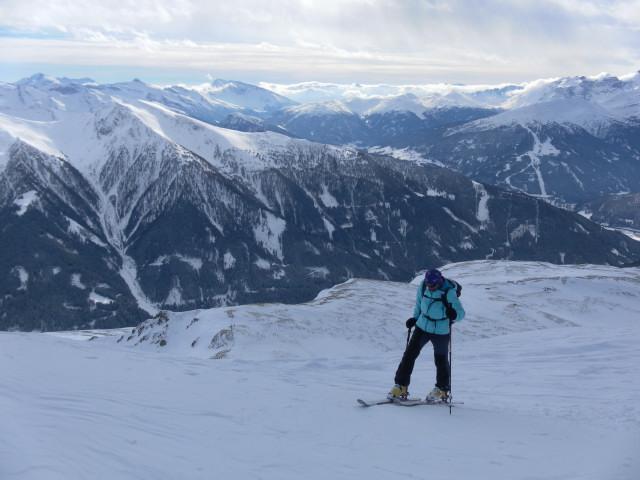 Foto: Wolfgang Lauschensky / Skitour / Mislkopf über Mislböden    / am Westrücken Richtung Gipfel / 19.02.2013 17:59:48