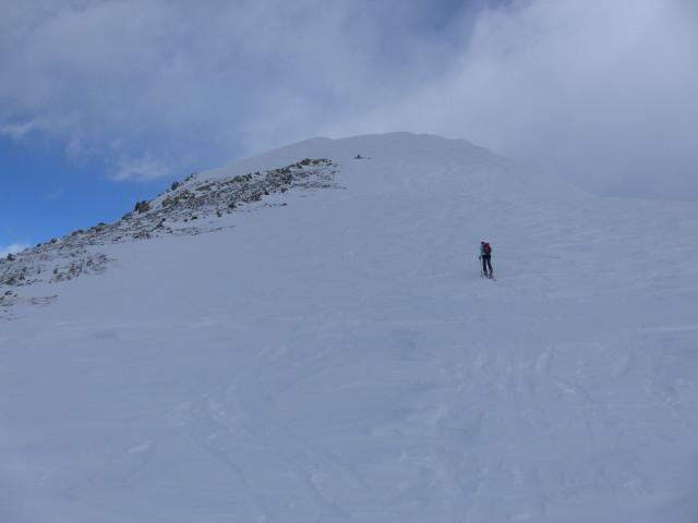Foto: Wolfgang Lauschensky / Skitour / Mislkopf über Mislböden    / Gipfelaufschwung / 19.02.2013 17:59:28