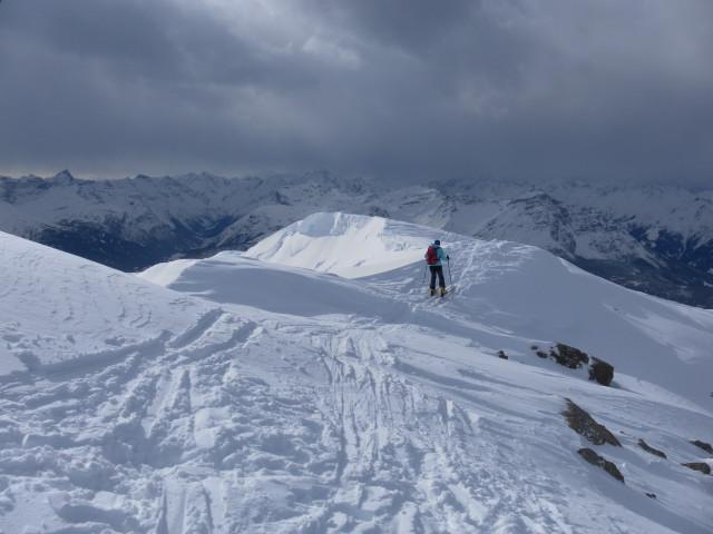 Foto: Wolfgang Lauschensky / Skitour / Mislkopf über Mislböden    / Blick vom Westgrat über das Wipptal. / 19.02.2013 17:59:05