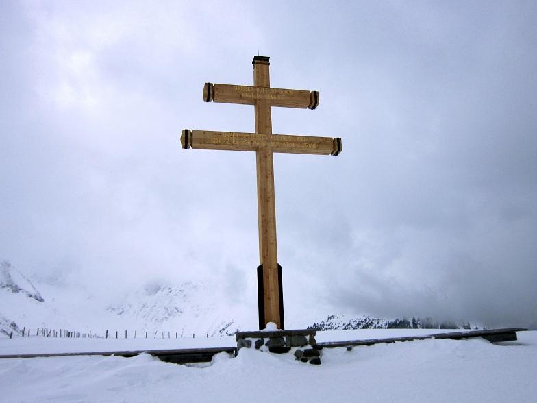 Foto: Andreas Koller / Skitour / Lawinensicher aufs Rangger Köpfl (1939m) / Beim Gipfelkreuz am Rangger Köpfl / 22.02.2013 22:11:28