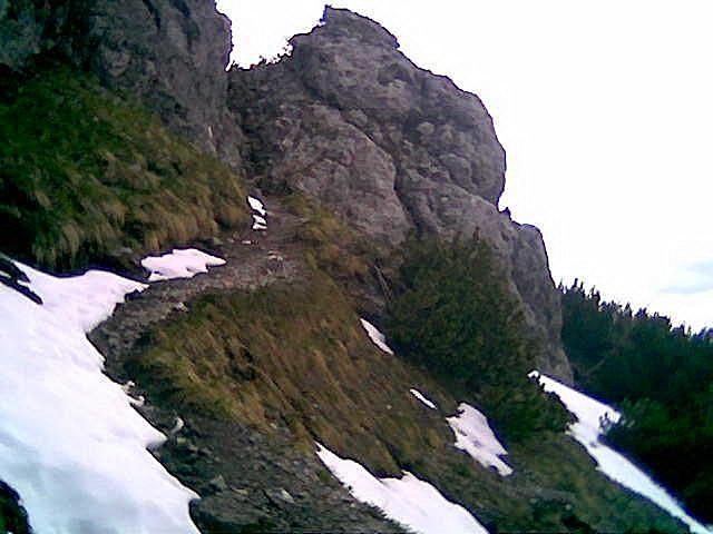 Foto: Wolfgang Lauschensky / Wandertour / Bärenkopf  1991m   über Weißenbachalm / gesicherte Felsrinne zum Schärtchen / 16.06.2013 09:57:09