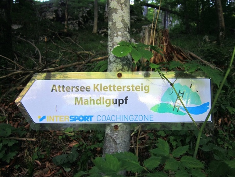 Foto: Andreas Koller / Klettersteigtour / Attersee Klettersteig Mahdlgupf (1261m) / 30.06.2013 16:02:13