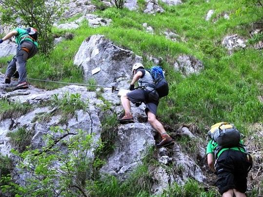 Foto: Andreas Koller / Klettersteigtour / Attersee Klettersteig Mahdlgupf (1261m) / 30.06.2013 16:01:29