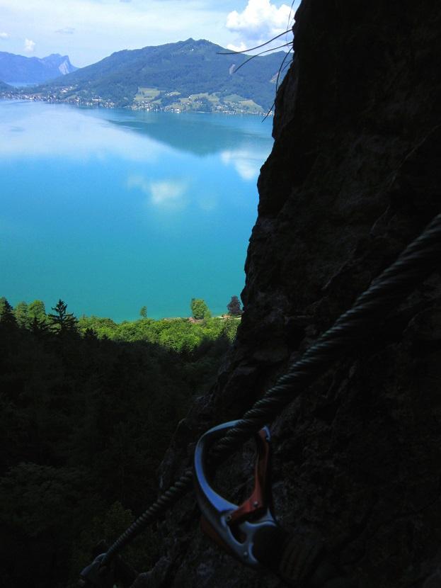 Foto: Andreas Koller / Klettersteigtour / Attersee Klettersteig Mahdlgupf (1261m) / 30.06.2013 16:00:40