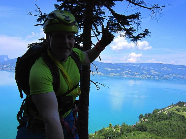 Foto: Andreas Koller / Klettersteigtour / Attersee Klettersteig Mahdlgupf (1261m) / 30.06.2013 15:59:59