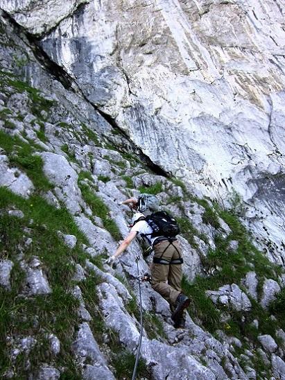 Foto: Andreas Koller / Klettersteigtour / Attersee Klettersteig Mahdlgupf (1261m) / 30.06.2013 15:59:08