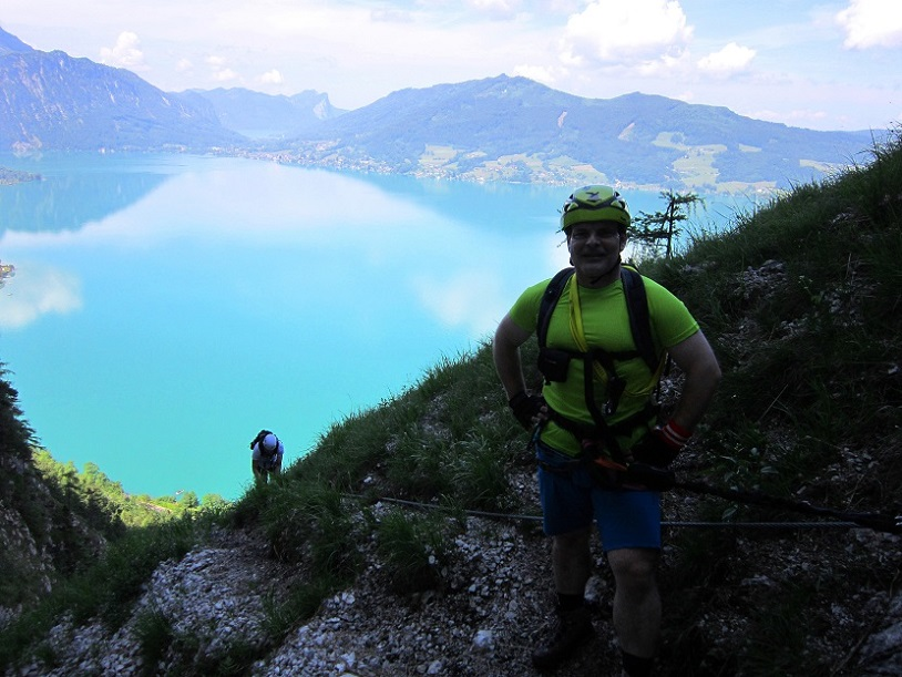 Foto: Andreas Koller / Klettersteigtour / Attersee Klettersteig Mahdlgupf (1261m) / 30.06.2013 15:58:58